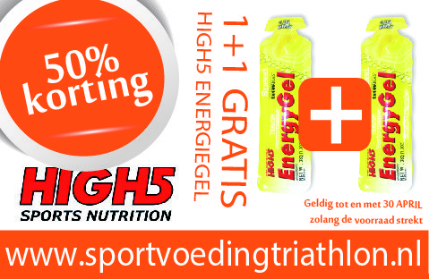 50% korting op High5 Energy Gel in april!